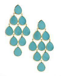 Ippolita   Blue 18k Rock Candy Cascade Earrings In Turquoise   Lyst