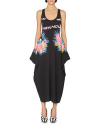 Stella McCartney | Black No Leather Graphic Sleeveless Jersey Dress | Lyst