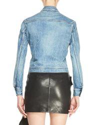 Saint Laurent | Blue Faded Denim Jacket | Lyst