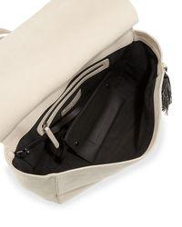 Brunello Cucinelli | White Monili-fringe Nubuck Tote Bag | Lyst