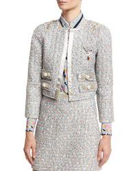 Marc Jacobs | White Embellished Tweed Jacket | Lyst
