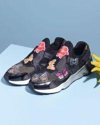 Ash - Black Mix Butterfly-patch Slip-on Sneaker - Lyst