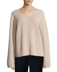 The Row   Natural Grisa Ribbed Scoop-neck Sweater   Lyst