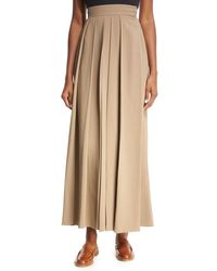 The Row - Brown Skannt Belted Wide-leg Pants - Lyst