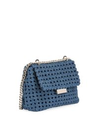 Stella McCartney   Blue Becks Woven Medium Shoulder Bag   Lyst
