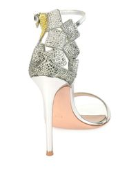Gianvito Rossi | Metallic Crystal-embellished Sandal | Lyst