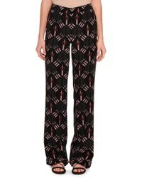 Valentino | Black Love Blade Print Pyjama Trousers | Lyst