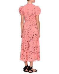 Valentino - Pink Metamorphosis Printed Tea-length Dress - Lyst