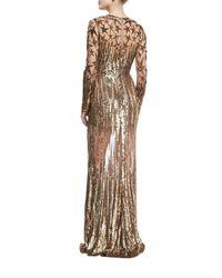 Elie Saab | Metallic Illusion Star-beaded Tulle Gown | Lyst