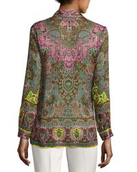 Etro | Brown Mixed Paisley-print Silk Shirt | Lyst