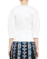 Mary Katrantzou | White Dove-embroidered Poplin Top | Lyst