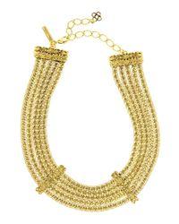 Oscar de la Renta   Metallic Chain Necklace   Lyst
