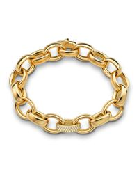 Monica Rich Kosann | Metallic Marilyn Extra Large Ultra Pave Diamond 18k Bracelet | Lyst