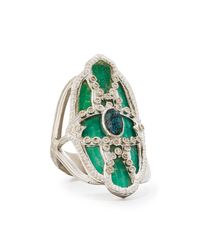 Armenta | Multicolor New World Teal Mosaic & Opal Ring With Diamonds | Lyst
