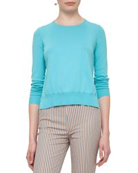 Akris Punto | Blue Crm Knit Pullover | Lyst