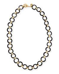 Ashley Pittman | Brown Mtego Round Dark Horn Link Necklace | Lyst
