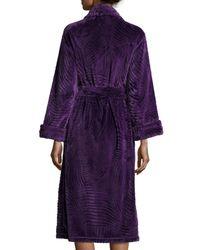 Natori - Purple Divine Scuplt Robe - Lyst