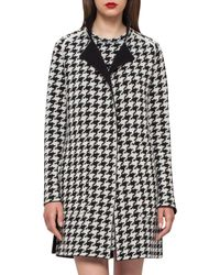 Akris | Black Reversible Houndstooth Cashmere Coat | Lyst