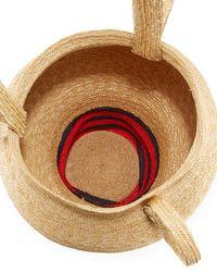 Rosie Assoulin - Multicolor Striped Woven-straw Jug Bag - Lyst