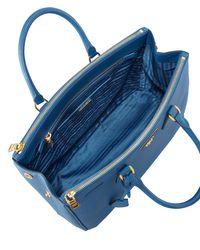 Prada - Blue Saffiano Executive Tote Bag - Lyst