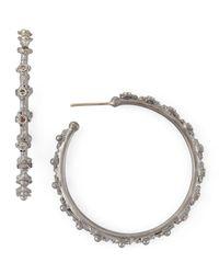 Armenta - Metallic New World Crivelli Diamond Hoop Earrings - Lyst