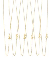 Jennifer Zeuner | Metallic 18k Gold Vermeil Mini Initial Necklace | Lyst