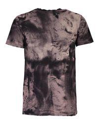 Balmain - Black T-shirt M/m Leopardo Destroy for Men - Lyst