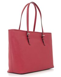 MICHAEL Michael Kors - Red Jet Set Travel Md Tz Mult Funt Tote - Lyst