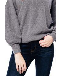Julie Billiart - Gray Bell Sleeve Sweater - Lyst