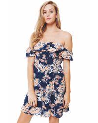 Lovers + Friends - Blue Vineyard Dress/ Floral - Lyst