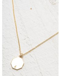 Lily Kamper - Metallic Gold Hexagon Disc Pendant - Lyst