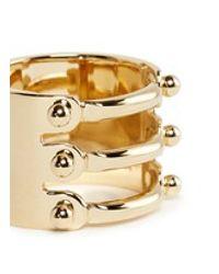 Chloé | Metallic 'frances' Triple Bar Brass Ring | Lyst