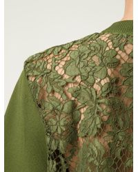 Valentino | Green Lace Back Knit Top | Lyst