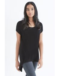 Oasis | Black Easy Shirt Tails Top | Lyst