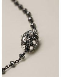 Roni Blanshay | Black Beaded Necklace | Lyst