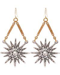 Lulu Frost - Metallic Gold-tone Radiant Drop Earrings - Lyst