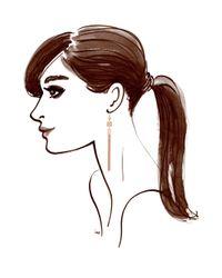 Henri Bendel | Metallic Princess Cube Linear Earrings | Lyst