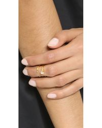 Bijules - Metallic Baby Knuckle Ring - Gold/clear - Lyst