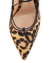 Gianvito Rossi - Multicolor Leopard-Print Calf-Hair Pumps - Lyst
