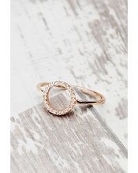 Forever 21 | Metallic Shashi Tracy East West Ring | Lyst