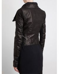 Rick Owens - Black Classic Washed Leather Jacket - Lyst