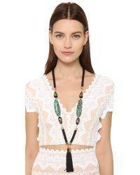 Holst + Lee - Green Anguilla Tassel Necklace - Lyst