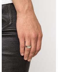 Werkstatt:münchen | Gray Signet Ring | Lyst