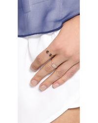 Ginette NY - Metallic Mini Sequin Diamond Ring - Rose Gold/Clear - Lyst