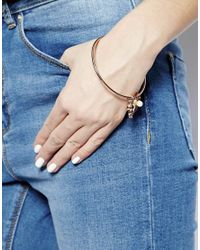 Sam Ubhi - Pink Rose Gold Skull Bracelet - Lyst