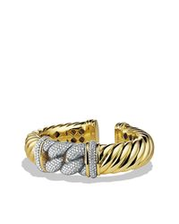 David Yurman - Metallic Metro Bracelet With Diamonds In Gold - Lyst