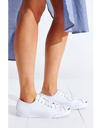Converse - White Jack Purcell Tumbled Leather Low-Top Sneaker - Lyst