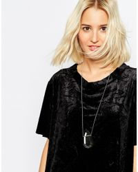 Cheap Monday | Gray Edge Necklace | Lyst