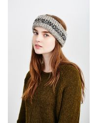 Urban Outfitters | Gray Ribbed Space-dye Boucle Earwarmer | Lyst