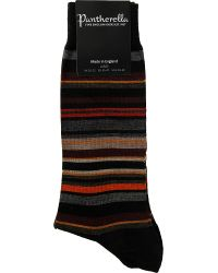 Pantherella - Black Quakers Striped Merino Wool Socks for Men - Lyst